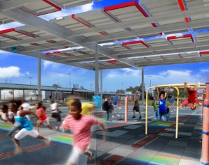 NRG Energy Unveils Solar Powered Playground at New Orleans School