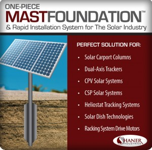 Shaner Industries to Introduce New Foundation System at Intersolar