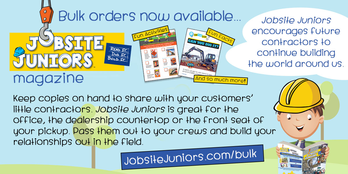 Jobsite Juniors | Read It. Dig It. Build It. | Bulk orders now available...